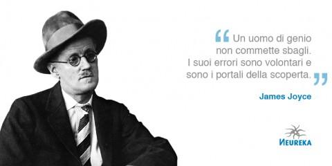 aforisma di James Joyce. Un uomo di genio non commette sbagli.