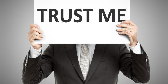 La fiducia è irrazionale e a prima vista