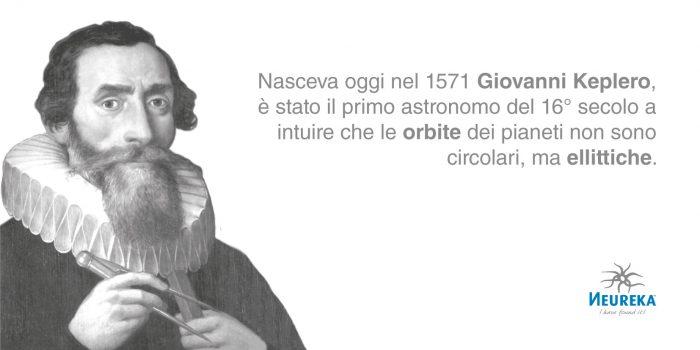 Giovanni Keplero è stato il primo astronomo del 16° secolo a intuire che le orbite dei pianeti non sono circolari, ma ellittiche.
