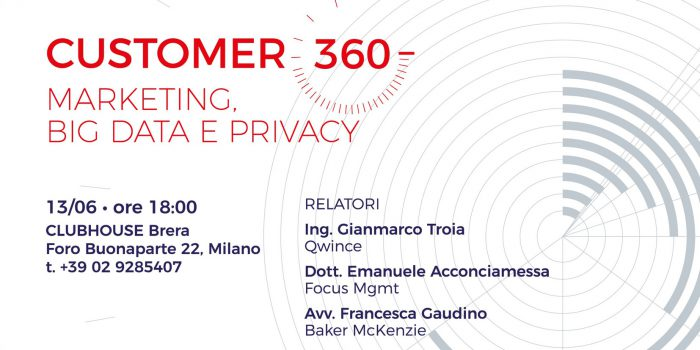 Customer 360 - Marketing, big data e privacy