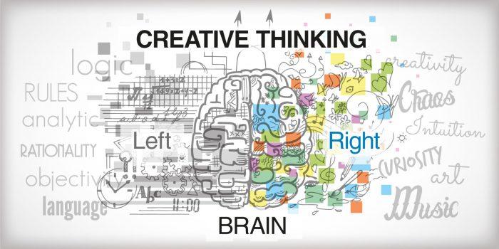 """Il pensiero creativo è generato dal lavoro integrato dell'emisfero destro, emisfero dell'intuizione, dell'inconscio con il sinistro quello della razionalità, entusiasmo e libertà a contatto con il Bambino """"incontaminato"""" che è dentro di noi."""