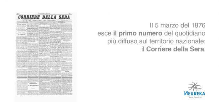 """Il Corriere della Sera, al suo primo numero, esce di sole quattro pagine e con un editoriale volto a convincere del loro """"parlar chiaro"""""""
