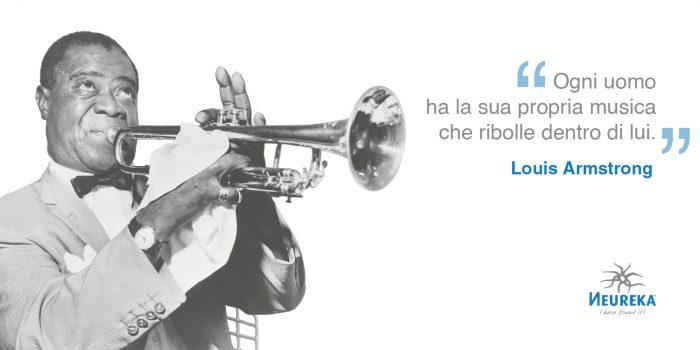 Louis Armstrong, creativo musicista, trombettista, cantante, attore...