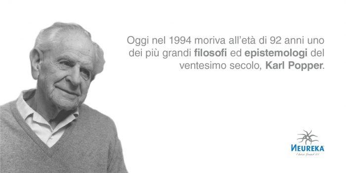 Oggi nel 1994 moriva all'età di 92 anni uno dei più grandi filosofi ed epistemologi del ventesimo secolo, Karl Popper