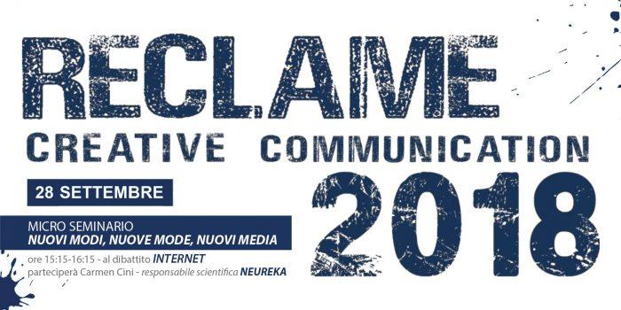 """Neureka parteciperà a Reclame - Advertising Event! Carmen Cini interverrà al dibattito """"INTERNET"""" interno al programma dell'evento."""