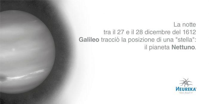 """La notte tra il 27 e il 28 dicembre del 1612 Galileo tracciò la posizione di una """"stella"""": il pianeta Nettuno"""