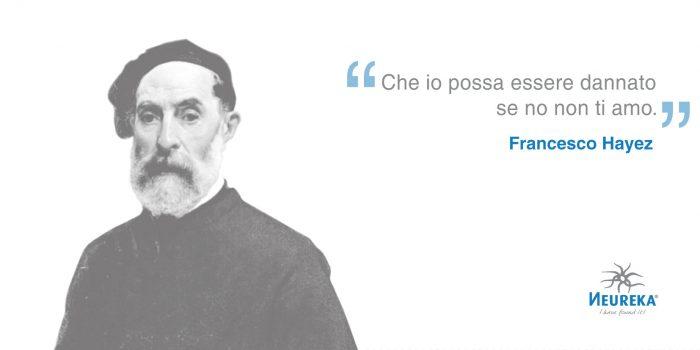 """Ricordiamo Francesco Hayez, massimo rappresentante del romanticismo storico italiano e famoso per il suo dipinto """"Il bacio"""""""