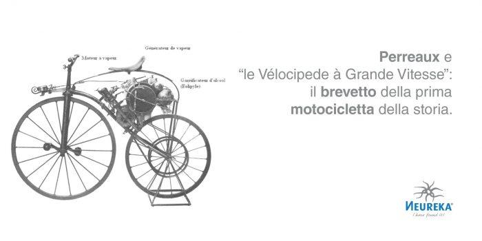 """Perreaux e """"le Vélocipede à Grande Vitesse"""": il brevetto della prima motocicletta della storia"""