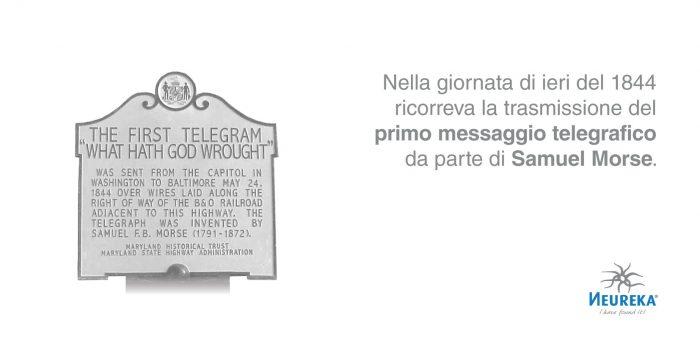 Nella giornata di ieri del 1844 ricorreva la trasmissione del primo messaggio telegrafico da parte di Samuel Morse