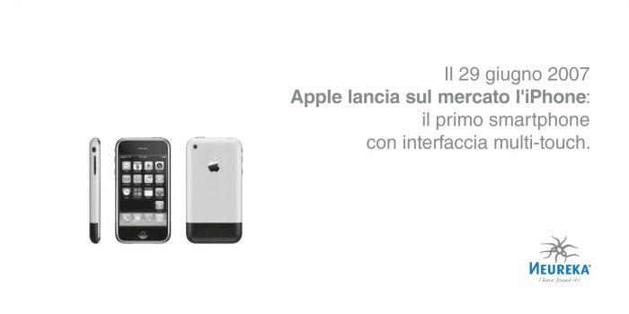 Il 29 giugno 2007 Apple lancia sul mercato l' iPhone : il primo smartphone con interfaccia multi-touch