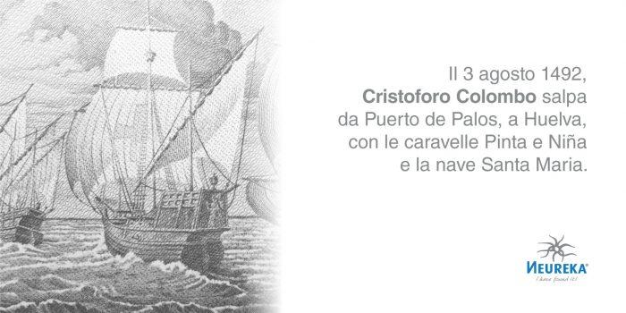 Con tre navi e un equipaggio di novanta uomini, Cristoforo Colombo sperava di trovare una rotta occidentale verso l'Estremo Oriente.