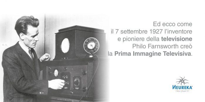 Ed ecco come il 7 settembre 1927 l'inventore e pioniere della TELEVISIONE Philo Farnsworth creò la Prima Immagine Televisiva