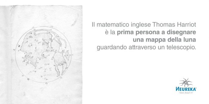 Il matematico inglese Thomas Harriot è la Prima Persona a Disegnare una Mappa della Luna guardando attraverso un telescopio