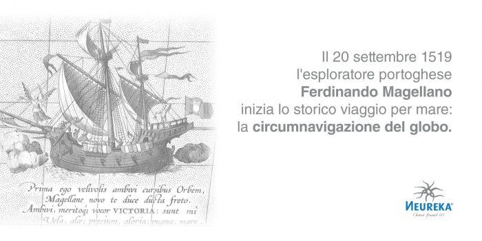 Il 20 settembre 1519 l'esploratore portoghese Ferdinando Magellano inizia lo storico viaggio per mare: la Circumnavigazione del Globo