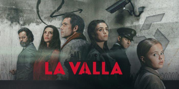 """Particolare del manifesto della serie TV """"La Valla"""" in cui vengono presentati i protagonisti"""