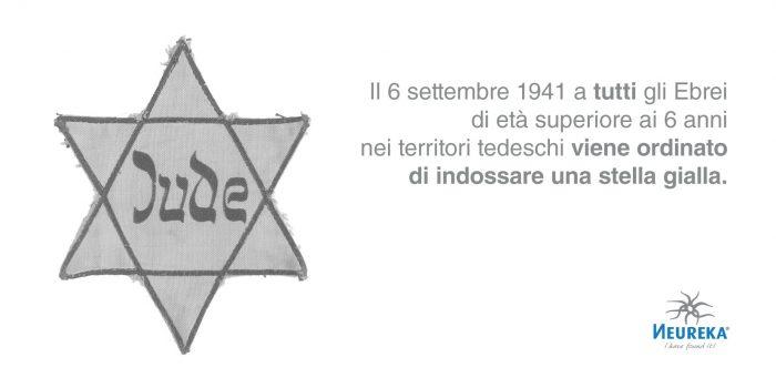 Il 6 settembre 1941 a TUTTI gli Ebrei di età superiore ai 6 anni nei territori tedeschi viene Ordinato di Indossare una Stella Gialla